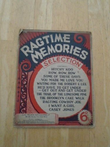 Ragtime Memories Selection Vintage Sheet Music #vintagesheetmusic