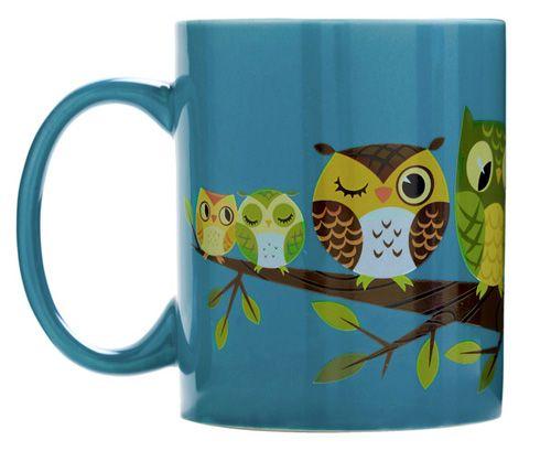 Barn Owl Feathers All Over Coffee Mug