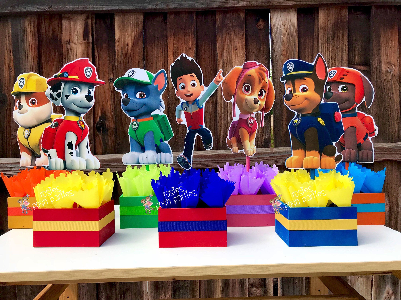 Paw Patrol Centerpieces For Birthday Candy Buffet Or Favors Etsy Fiesta Infantil Paw Patrol Tarjetas De Cumpleanos Para Ninos Fiesta De La Patrulla Canina