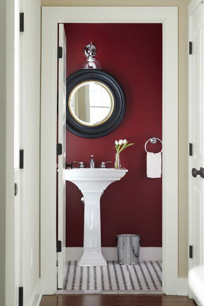 2015 pantone color of the year - Red Bathroom 2015