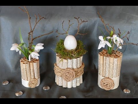 fr hlingsdeko basteln mit dosen osterdeko 2017 diy dekoration mit blumen youtube ostern. Black Bedroom Furniture Sets. Home Design Ideas