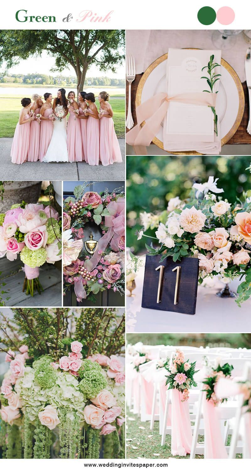 5 Hottest Green Color Combos To Brighten Your Big Day Wedding