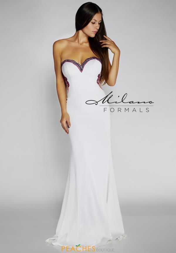 Strapless Fitted Milano Formals Dress E2115  e79f835d5
