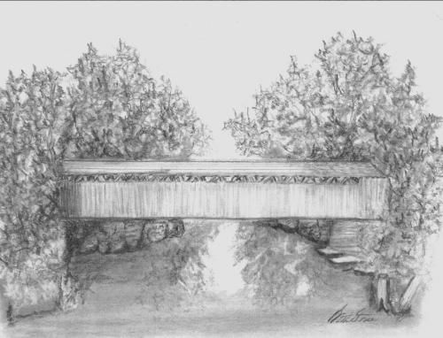 covered bridge Colouring Pages
