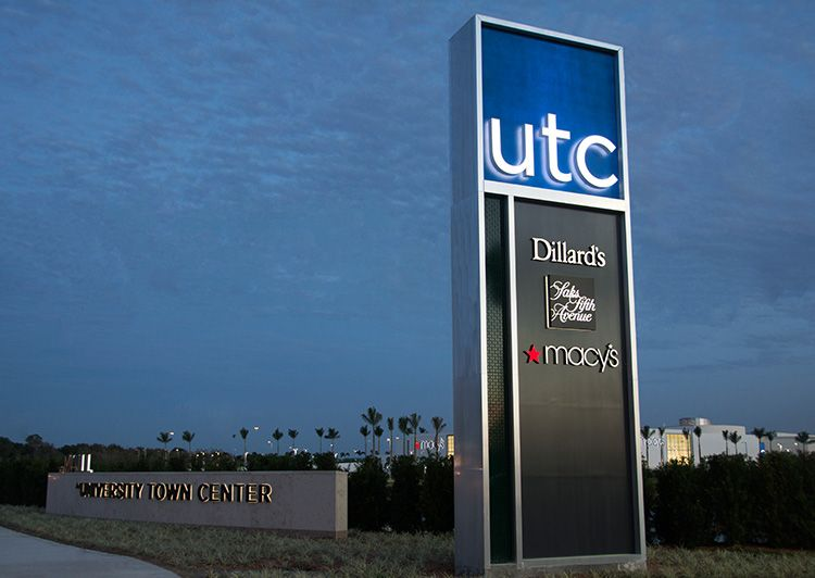 University Town Center Pylon Creo Industrial Arts
