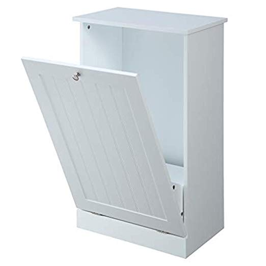 Amazon.com: Tilt Out Trash Cabinet By Seven Oaks (White