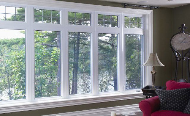 Prairie Style Windows With Transom Glass Wood Windows