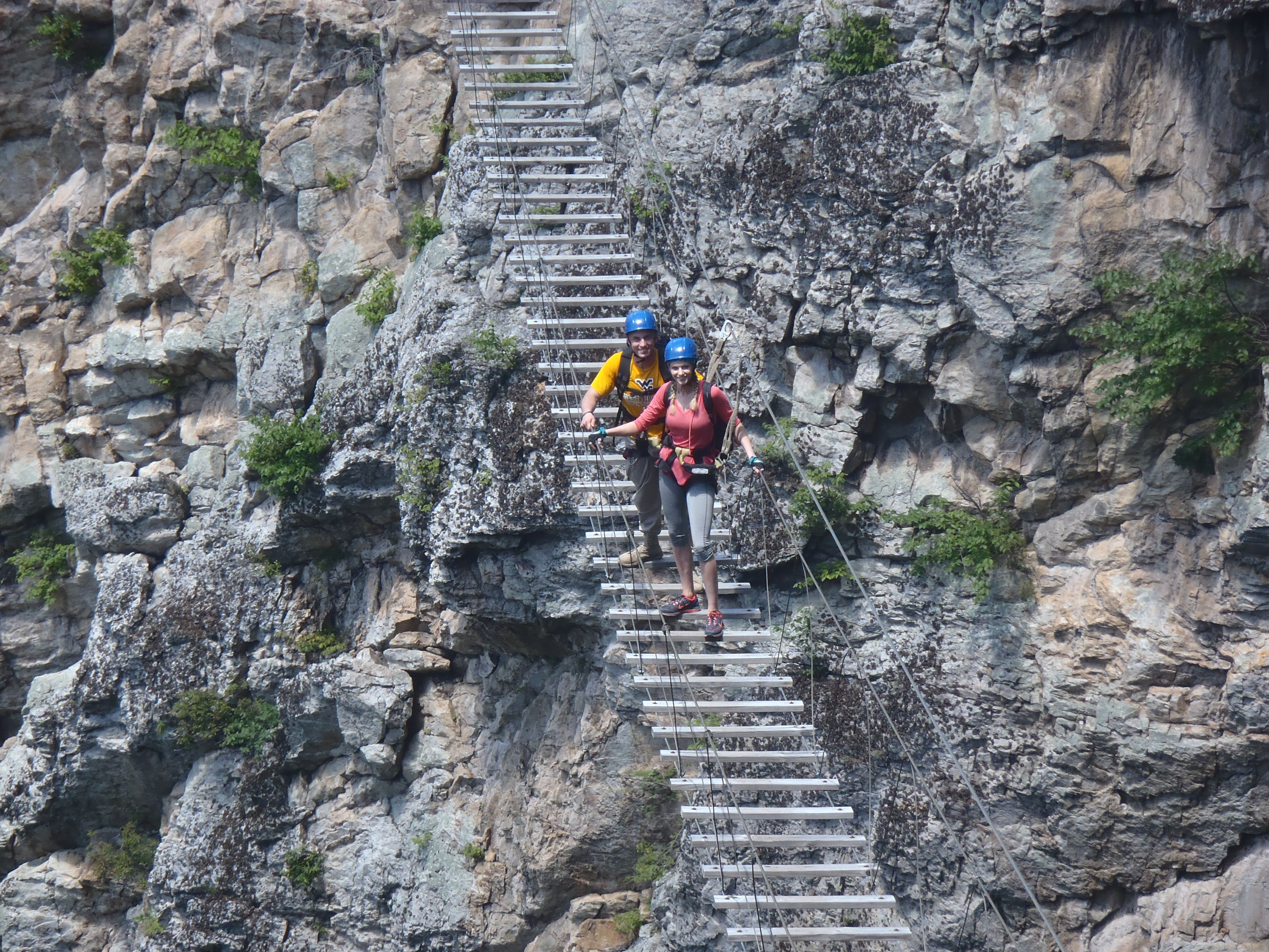 hanging out on the via ferrata bridge at nrocks outdoor