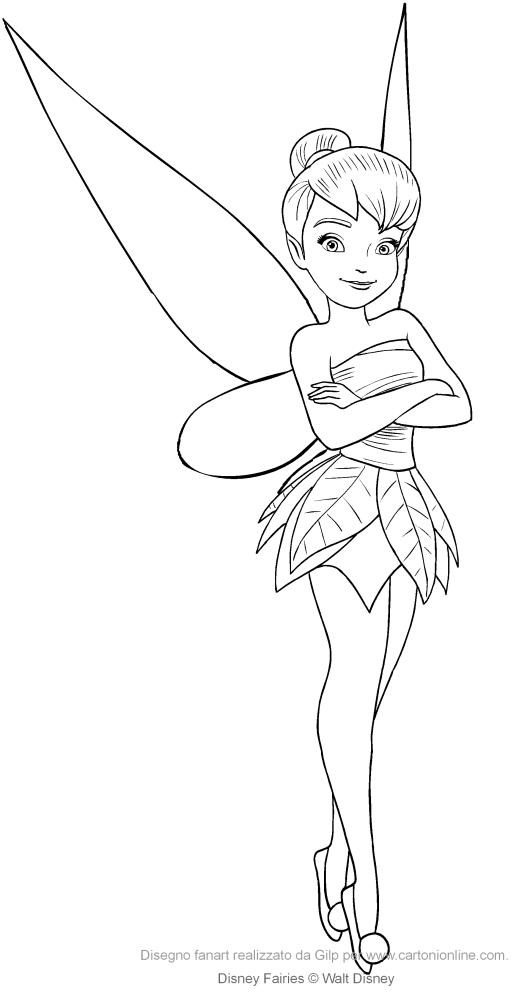 Dibujo De Tinker Bell Para Colorear Colorear Disney Colorear Princesas Dibujos Tiernos Para Colorear