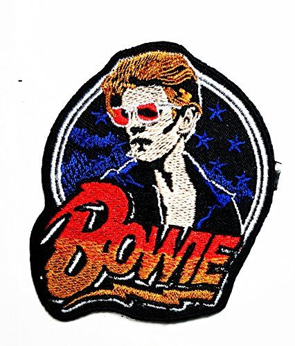 PUNK METAL MUSIC SEW ON /& IRON ON PATCH:- DAVID BOWIE ROCK POP