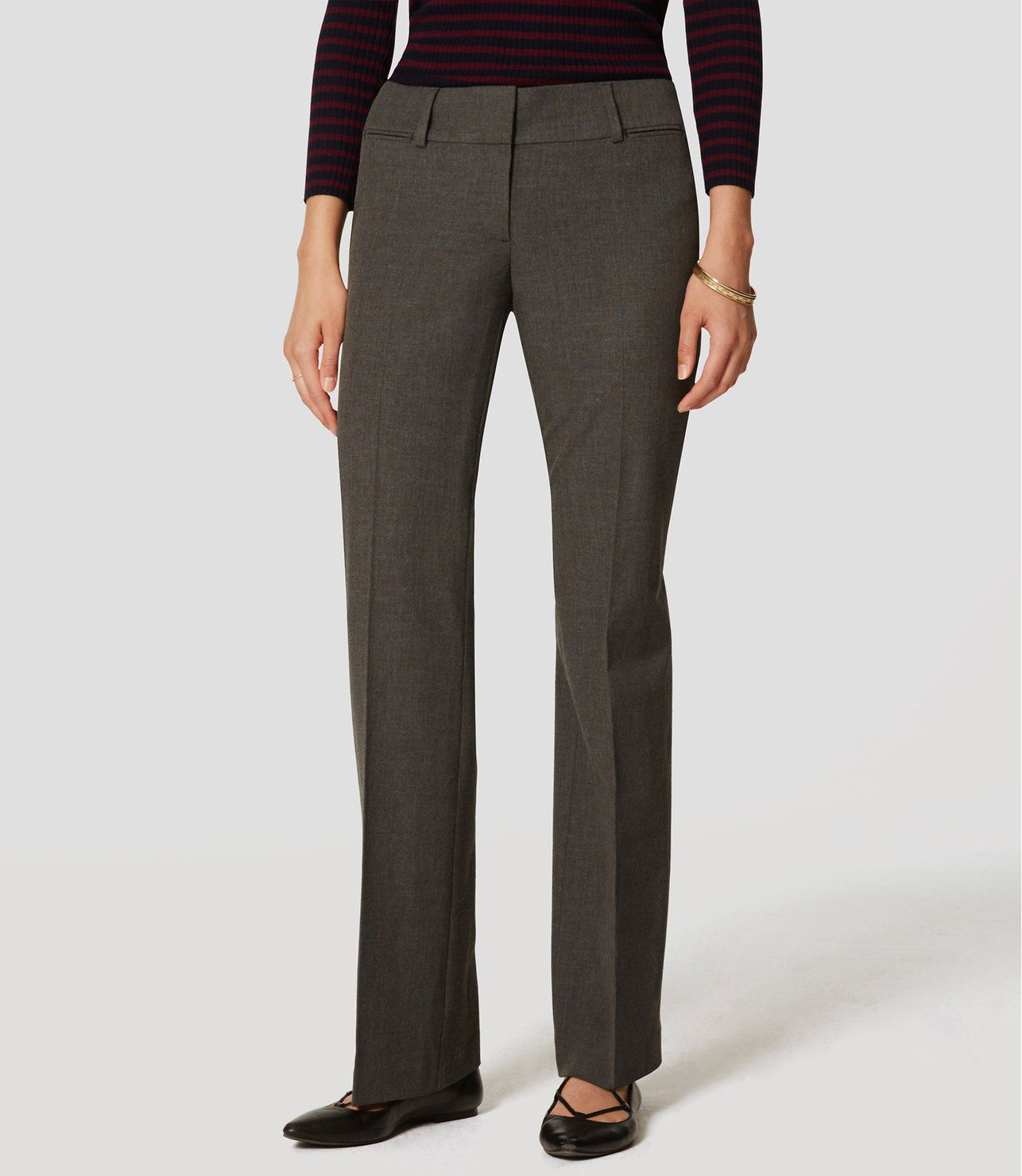 Women's straight leg Tailored Office style Work Trousers Pants Grey Brown 8 16 | eBay