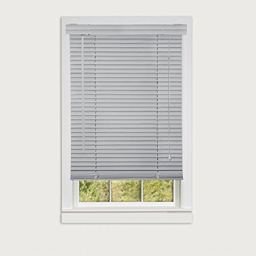 Achim Home Furnishings Morning Star 1 Vinyl Mini Blind 35 X 64 Grey The Morning Star Blind Is A 1 Inch Vinyl Mini Blinds Mini Blinds Vinyl Mini Blinds