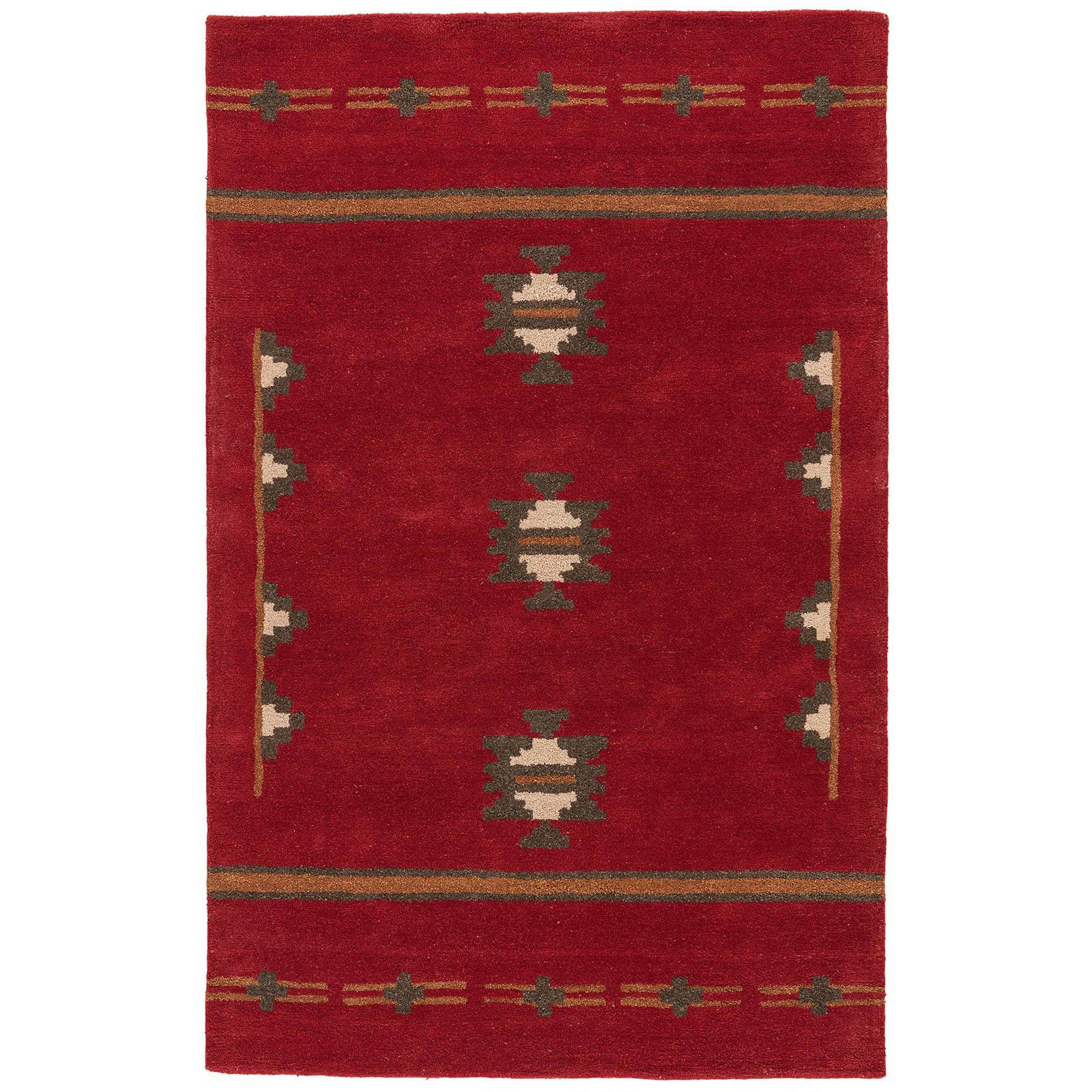 Jaipur Rugs Cabin Southwestern Indoor Area Rug Red Ochre Jaipur Rugs Wool Area Rugs Rugs