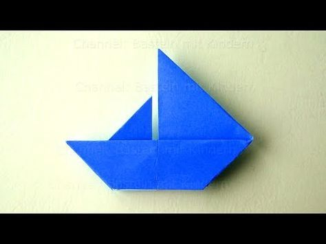 Origami Sailboat: How to make an easy origami Paper Boat - DIY