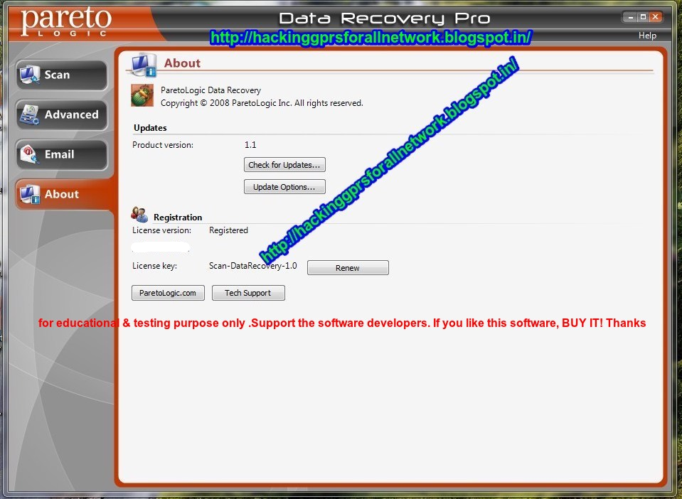 license key of data recovery software