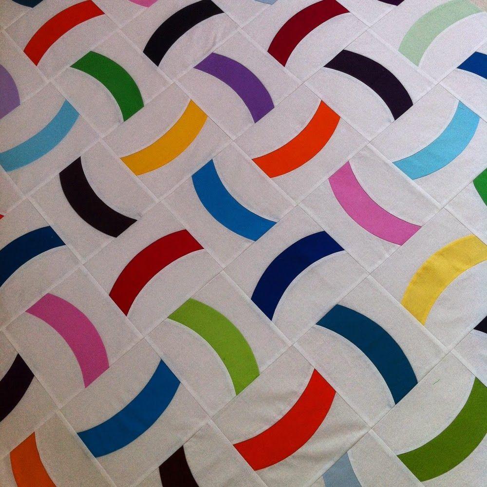 Einfaches haustürdesign einfach bunt confetti quilt mit dem quick curve ruler einfach bunt