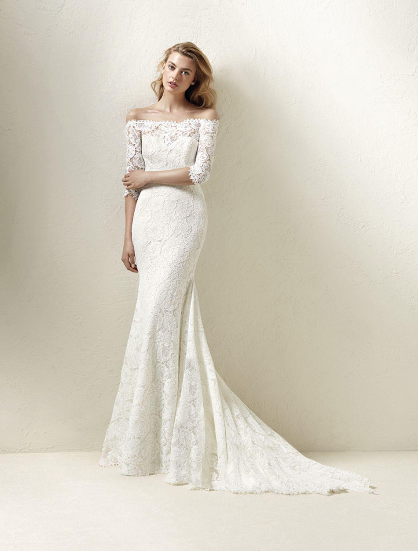 10 robes de mariée col Bardot tendance 20