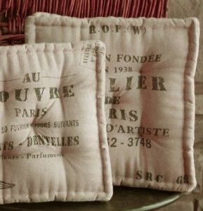 Feed Sack Chair Cushions {re Purpose From Burlap?