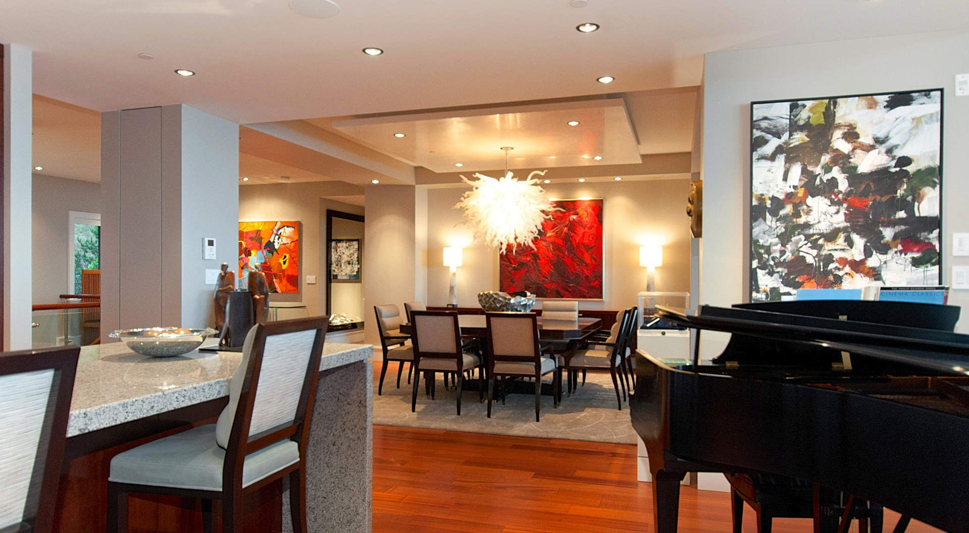 Enchanting Livingdining Room With An Art Collection  Interior Glamorous How To Decorate A Living Room And Dining Room Combination Decorating Design