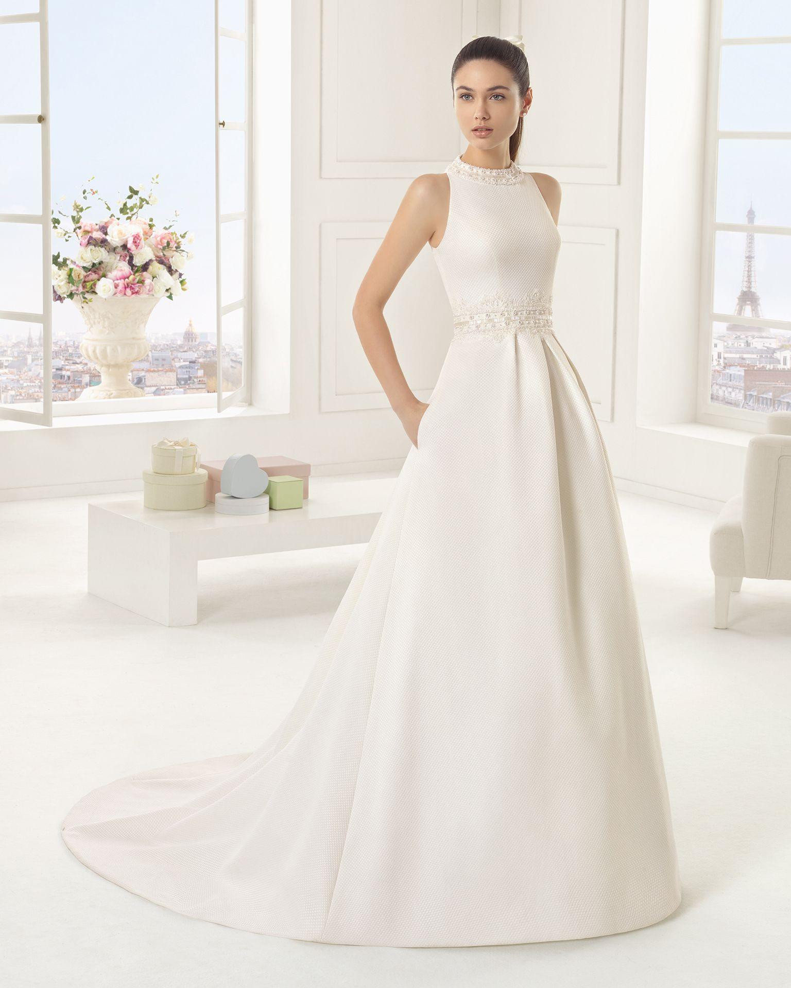 Vestidos de novia y vestidos de fiesta | Rosa clará, Traje de novio ...