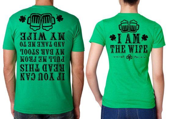 553f81d83 St Patrick's Day Funny Matching T-shirt St Patricks Day Couple Tees Irish  Party Tee Shirts Ireland P