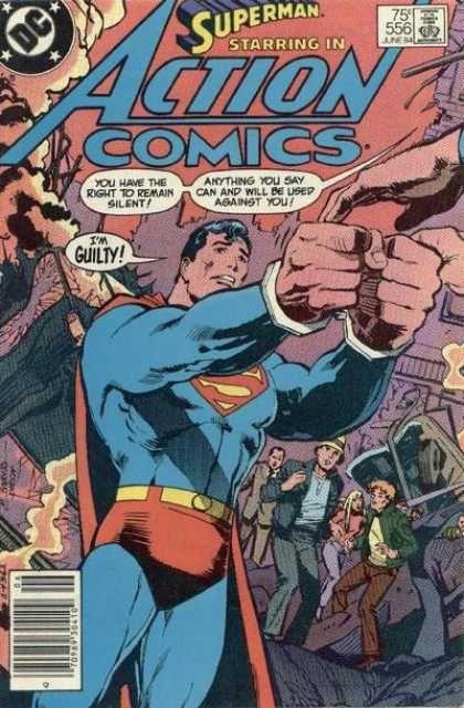 Action Comics Covers 550 599 Superman Action Comics Comics Dc Comic Books