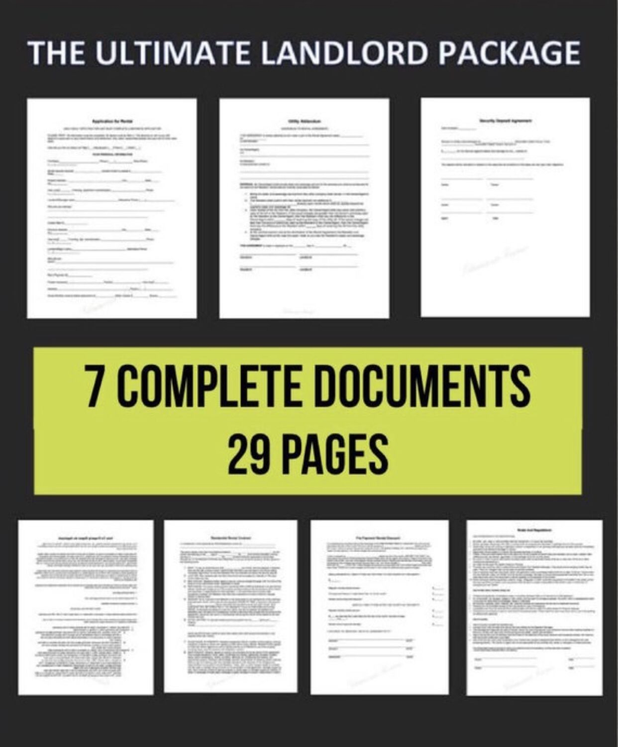 EDITABLE Ultimate Landlord Contract & Document Package
