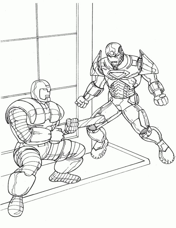 Iron Man Coloring Pages For Kids Printable Online 8