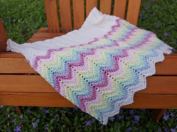Crochet blanket, crochet baby blanket, small afghan lapghan, crochet ...