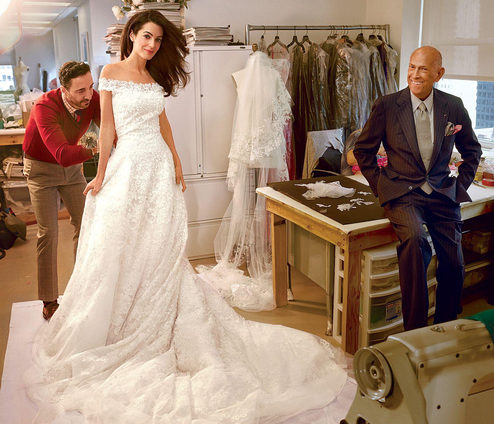 7526b5830fa5 Amal Clooney's Wedding Dress | Amal Alamuddin's Last Wedding Dress Fitting  Pictures; George Clooney's .