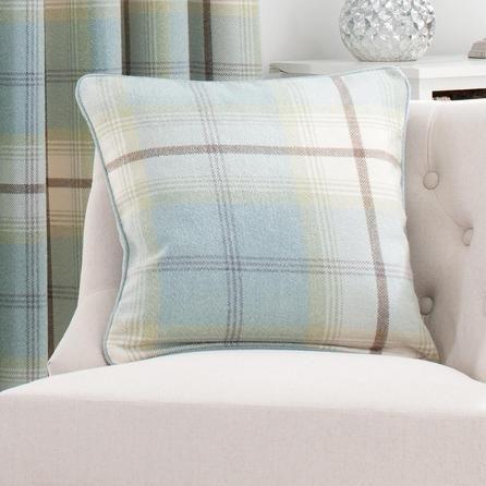 Duck Egg Highland Check Cushion Dunelm Home Decorating