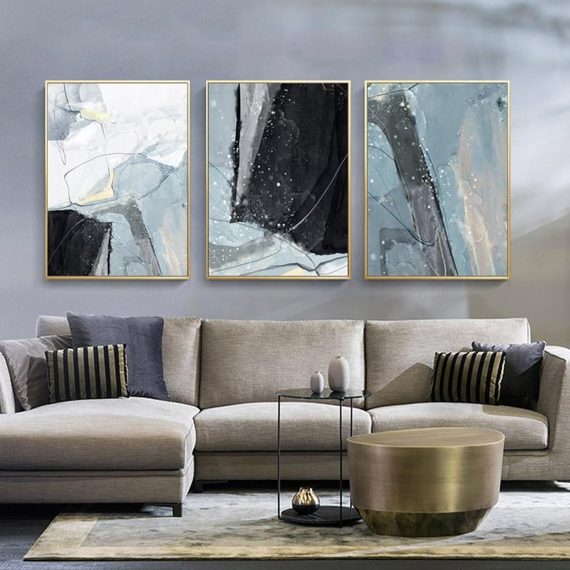 Abstract Blue Black Slate Grey Marble Wall Art Posters Fine Art Canvas Prints Nordicwallart Com Modern Abstract Wall Art Abstract Wall Art Fine Arts Posters