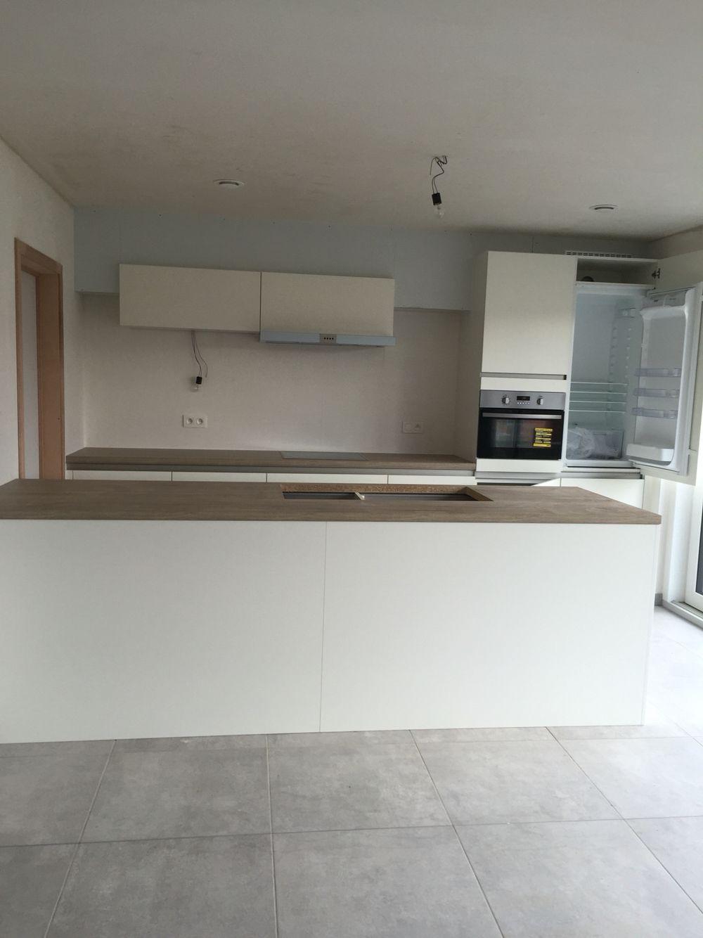 keuken wit eik grijze vloer wand decoratie pinterest grijze