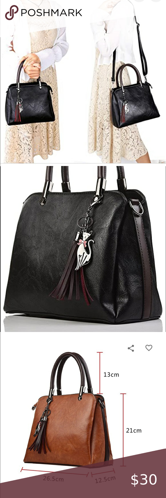 Caphill Pu Leather Shoulder Crossbody Tote Handbag Crossbody Tote Black Handbag Tote White Gucci Bag