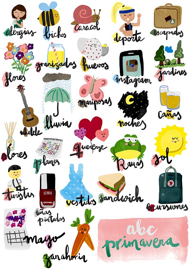 imprimible: ABC primavera lámina y fichas | milowcostblog | Imagenes ...