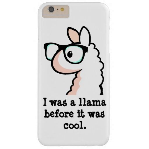Hipster Llama Barely There IPhone 6 Plus Case