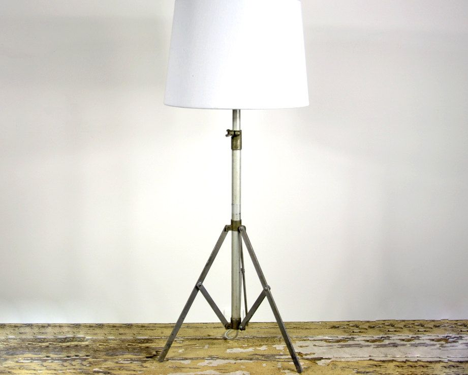 RESERVED Vintage Table Lamp / Tripod Music Stand Lamp