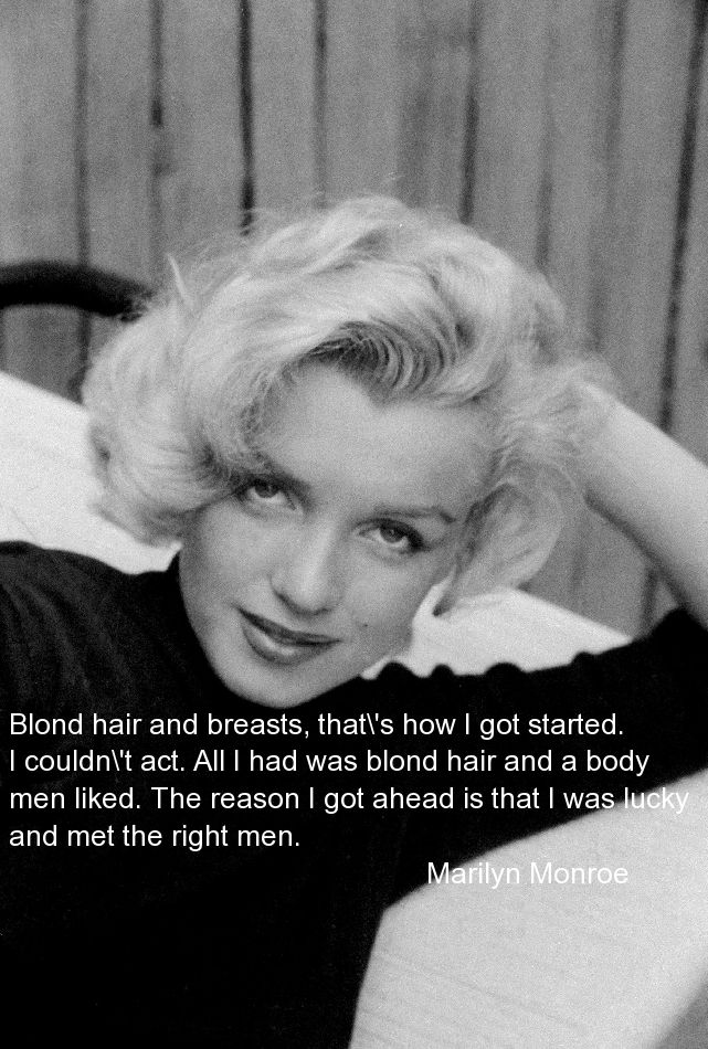 Blond Hair And Breasts Quotes Marilyn Monroe Quotes Monroe