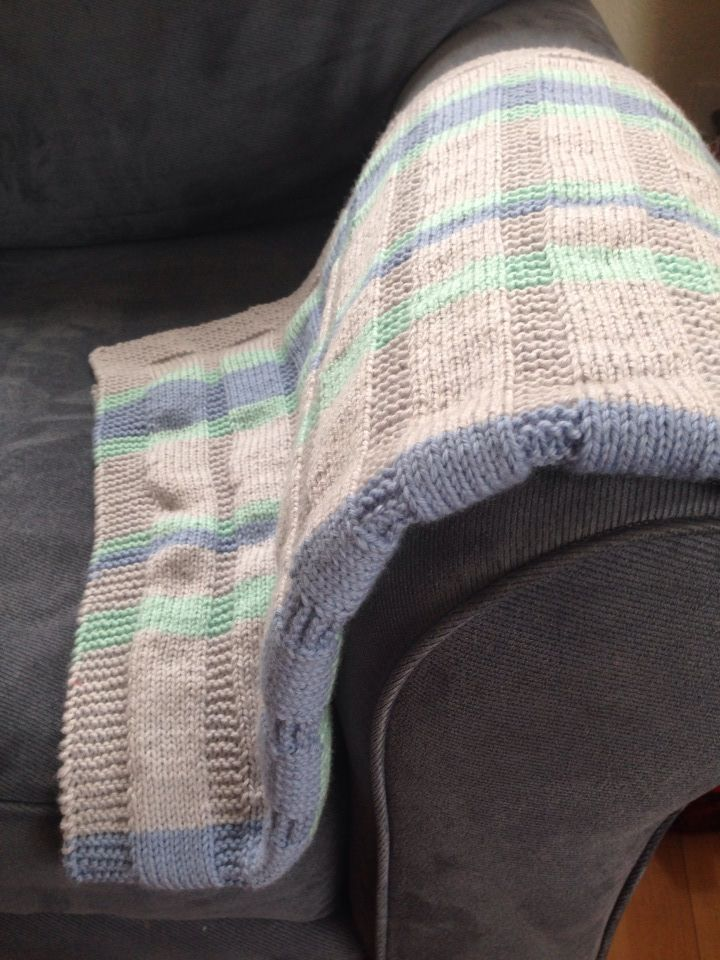 Simple striped baby blanket --Free Pattern | Knitting | Pinterest ...