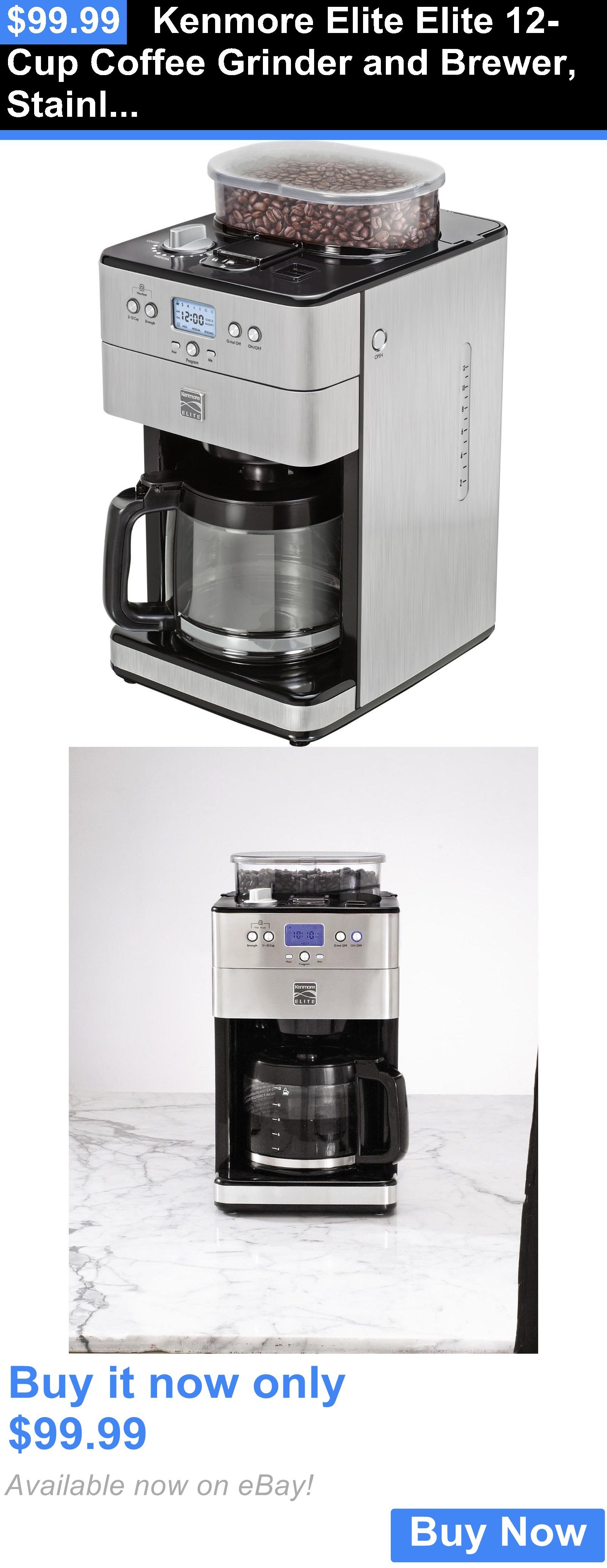 Uncategorized Elite Kitchen Appliances small kitchen appliances kenmore elite 12 cup coffee grinder and brewer stainless