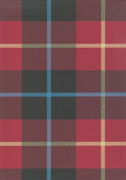 Ranold Wallpaper Tartan wallpaper in red and charcoal with yellow and sky  blue 0cff54d74