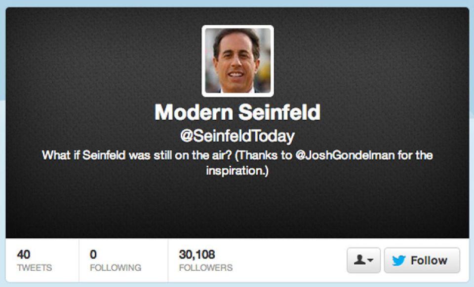 Modern Seinfeld Imagines Modern Day Seinfeld Episodes On Twitter Seinfeld Episodes Seinfeld Social Media
