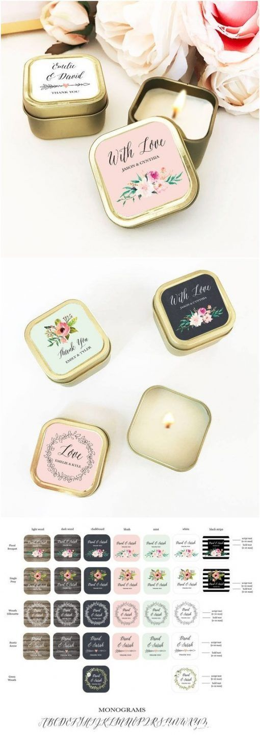 Personalisierte Bulk Candle Favors für Hochzeitsgäste - 12-tlg - Deer Pearl Flowers #personalizedwedding