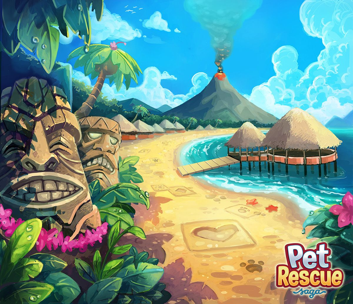 Pet Rescue Saga Background Art on Behance 배경, 유적
