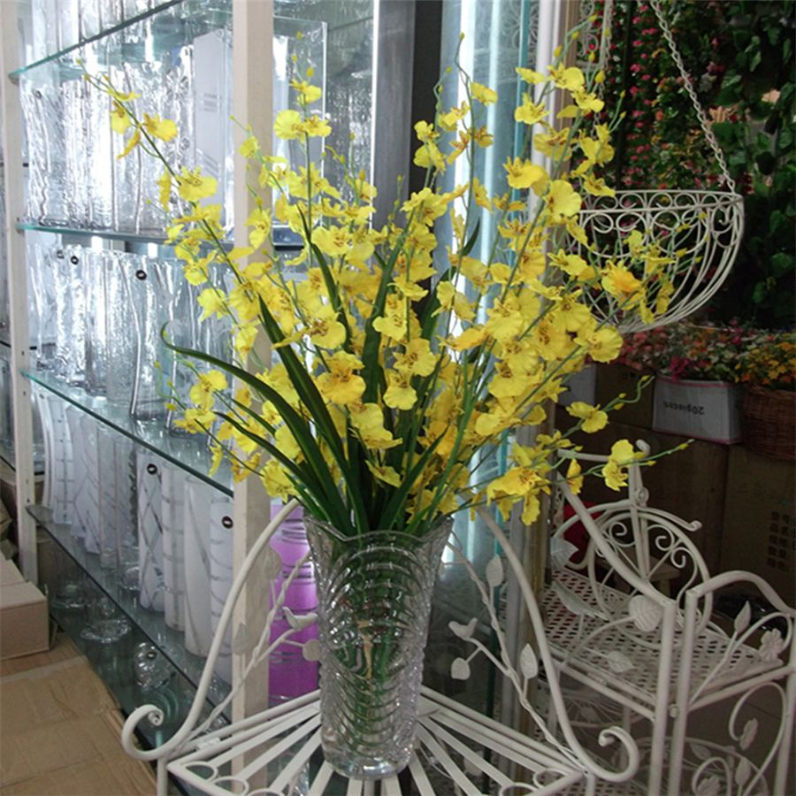 Silk Artificial Orchids Flowers For Decoration Display Plastic