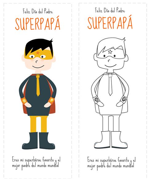 Dibujos Para Colorear Marcapaginas Para El Dia Del Padre Padre