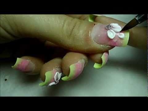 3d Acrylic Flowers Nail Art Tutorial Social Media La