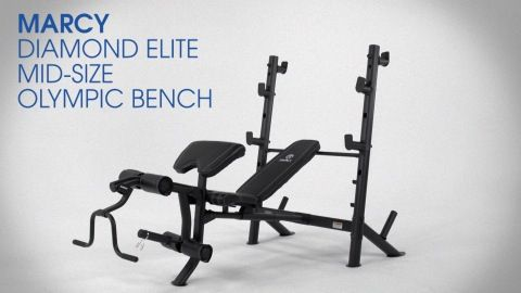 Marcy Diamond Elite Mid Size Olympic Bench Weights Workout Adjustable Weight Bench Adjustable Weights