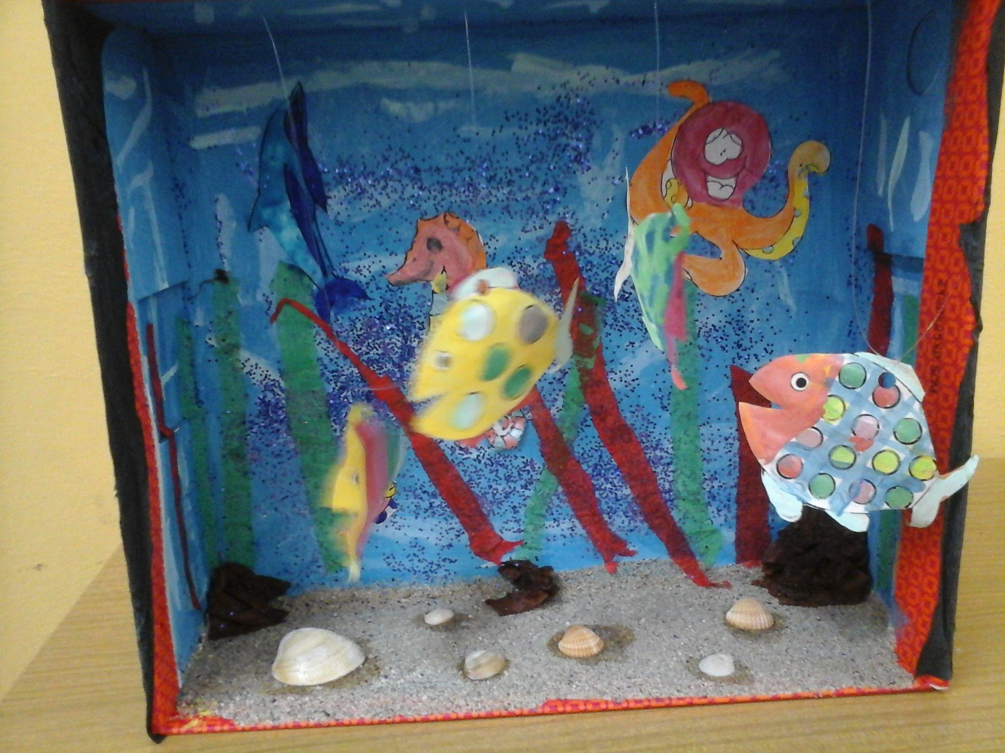 Bocal Réservoir de Poissons Doré Pour Maison de poupée Dollhouse Miniature