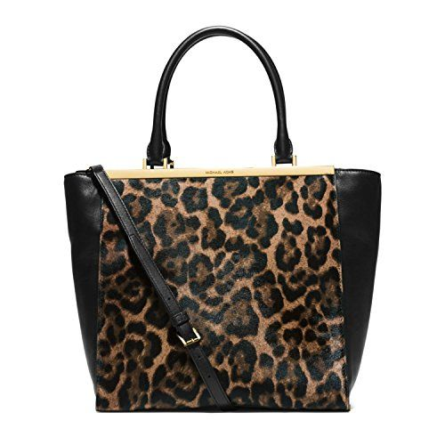 50ccf0c62278 New Michael Kors Lana Leopard-print Hair Calf and Leather Tote Leopard  Women Bag. [$365] topbrandsclothing offers on top store